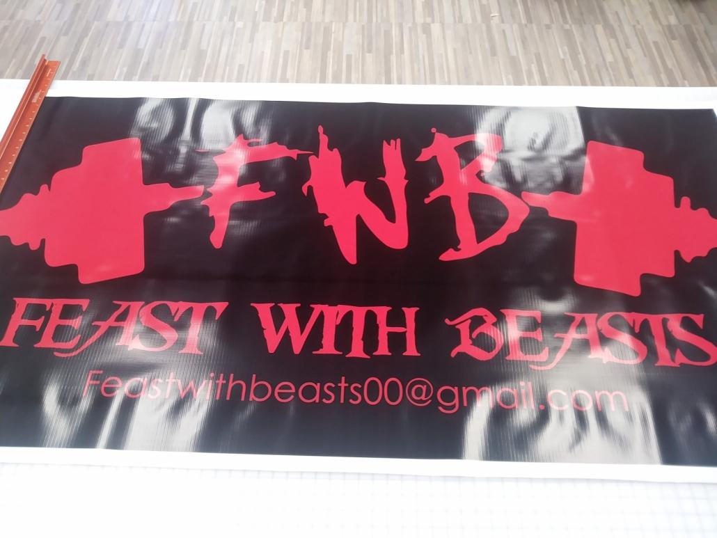glossy custom banner