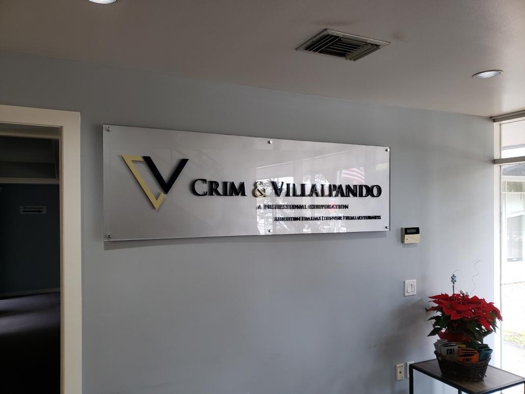 custom mounted wall signage