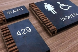 custom restroom signs