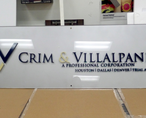 custom interior wall signage