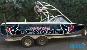 houston boat wrap