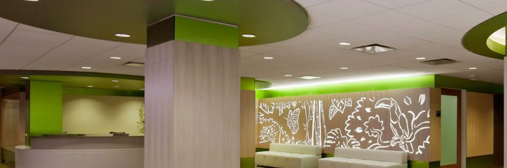 Interior wall design and wall wrap by ALTIUS Graphics in Houston, Texas
