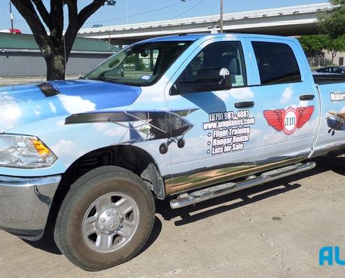 houston custom truck wrap