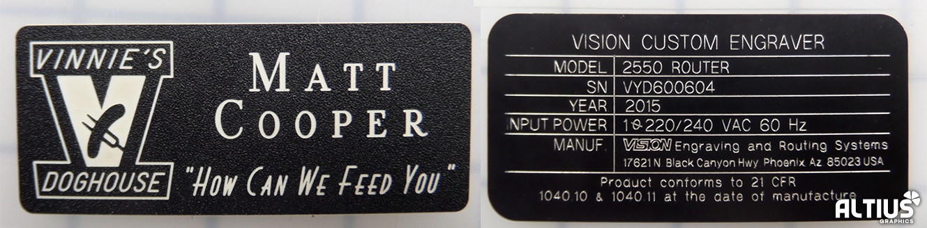 engraved business tag ada braille