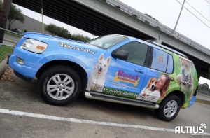 full car wrap by ALTIUS GRaphics