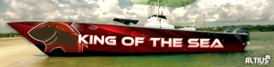 boat wrap by altius graphics in houston texas