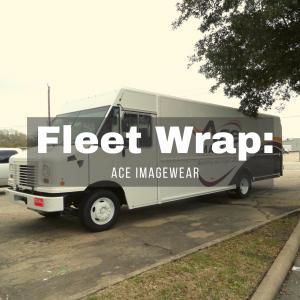 ACE ImageWear Fleet wrap and graphics