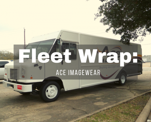 ACE ImageWear Fleet wrap and graphics